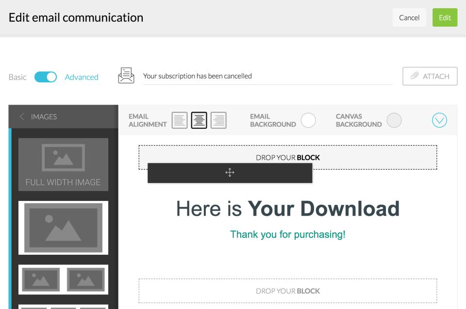 Kartra email communication screenshot