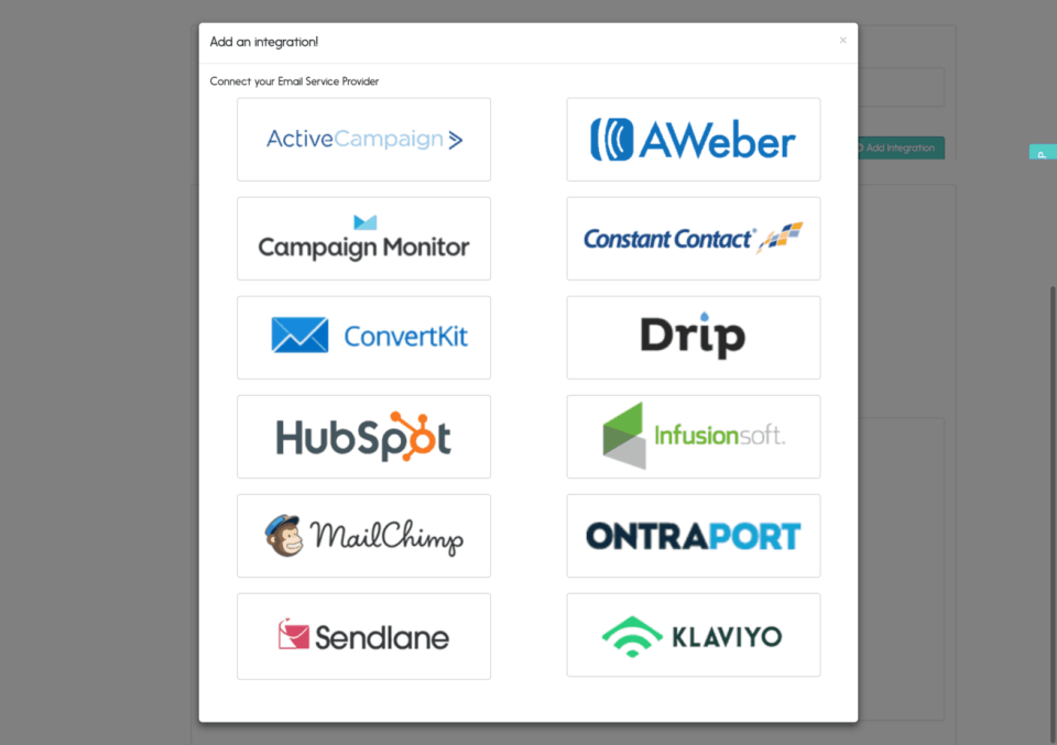 mailfloss screenshot: Connect the platform with several third-party applications, set business preference and manage email lists.
