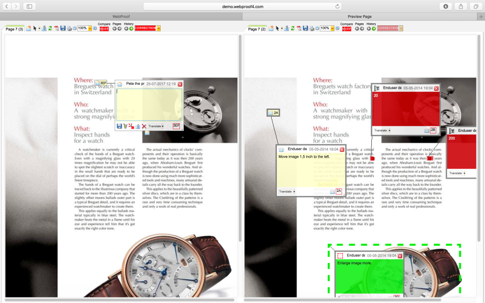 WebProof Software - WebProof product catalogue
