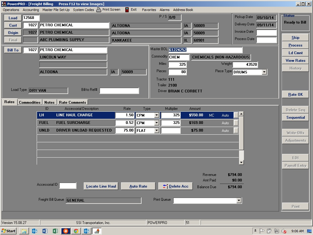 PowerPRO Software - Freight billing