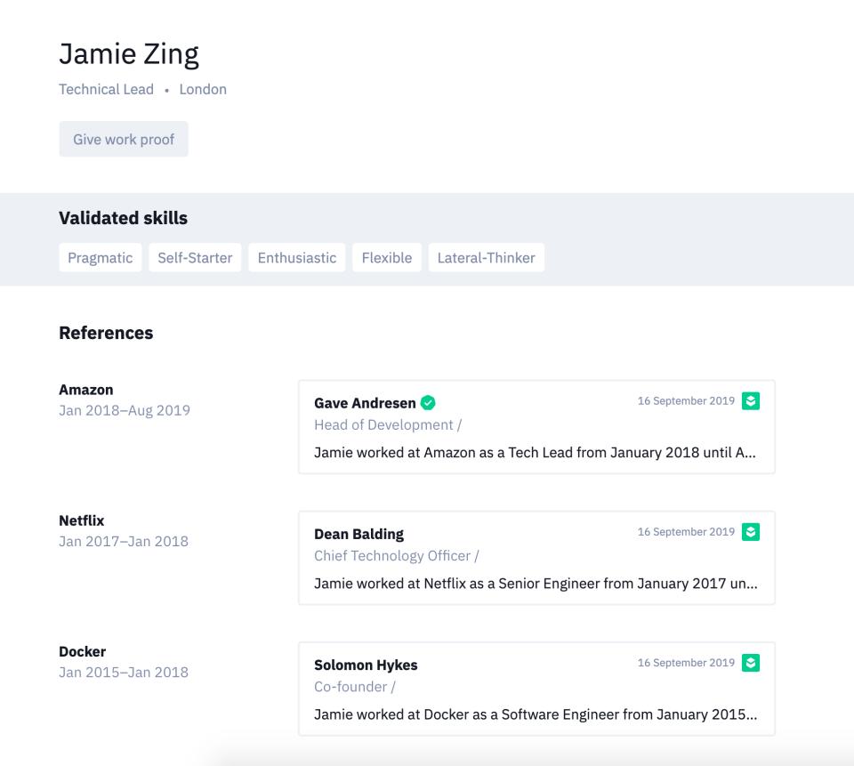 Zinc candidate profile