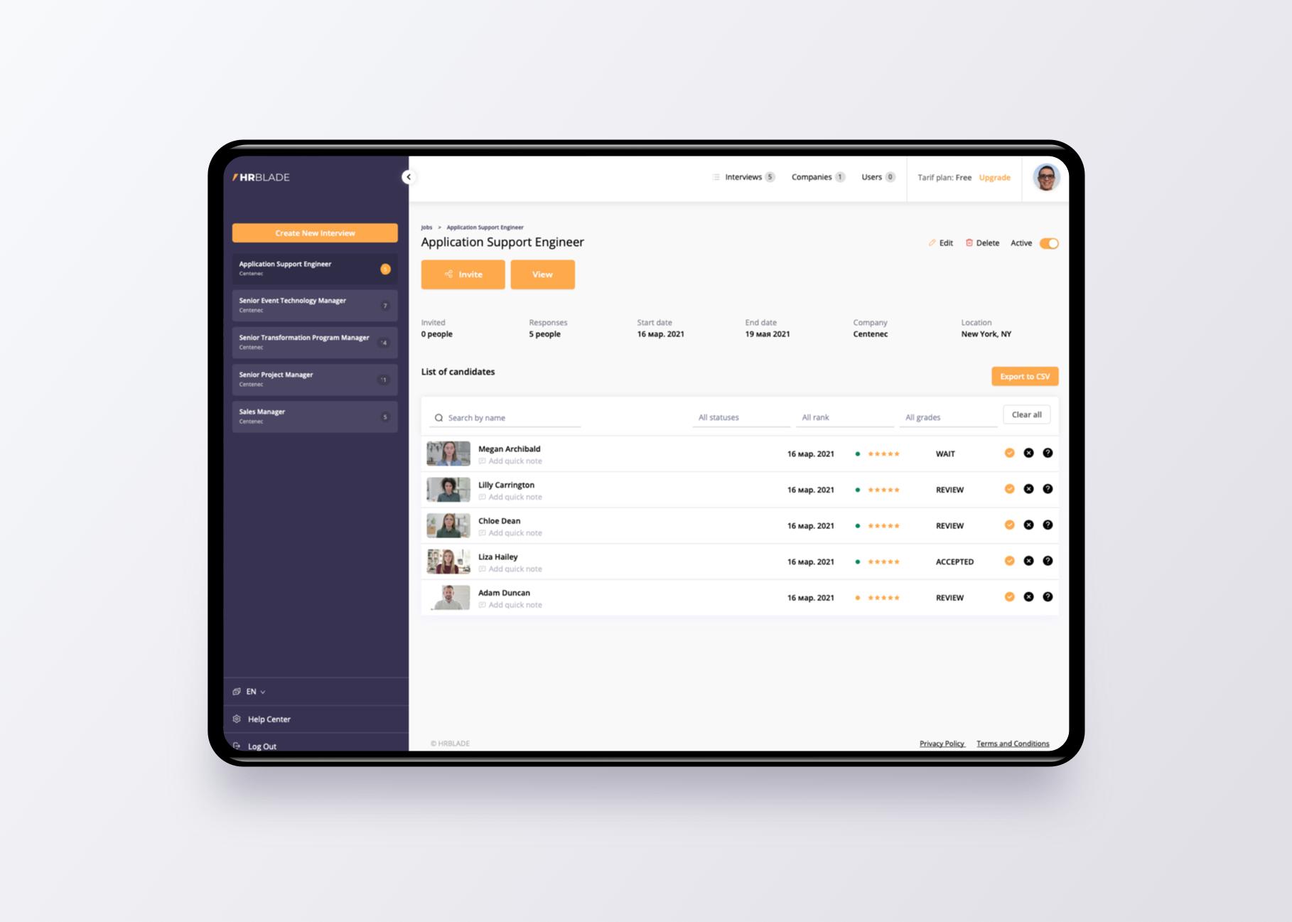 Hiring Experience Platform
