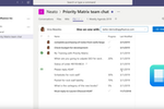 Priority Matrix screenshot: Priority Matrix Microsoft Teams integration
