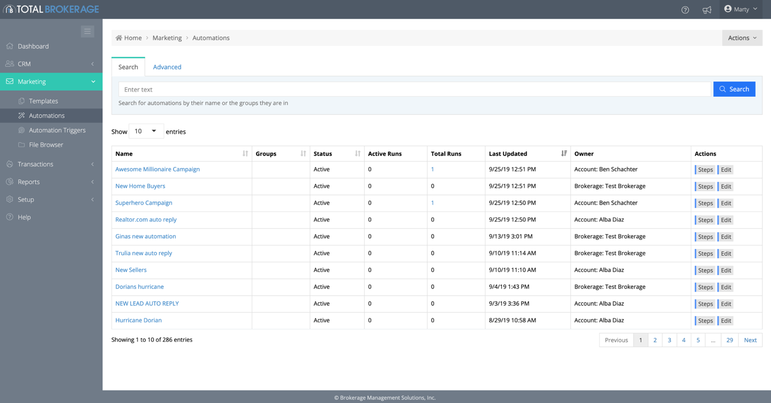TotalBrokerage Software - TotalBrokerage search functionality