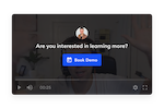 ilos screenshot: Schedule more meetings with in-video calls-to-action