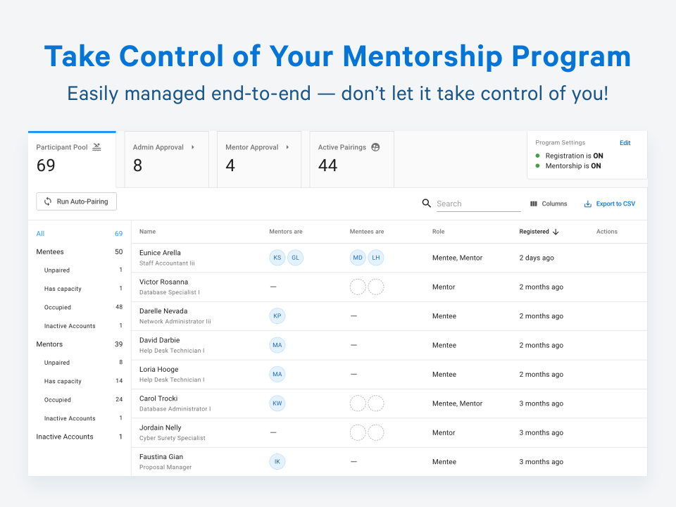 Together Enterprise Mentoring Software - Simple setup, all-in-one place. Every product decision we make is focused on how can we make this simpler for our users.