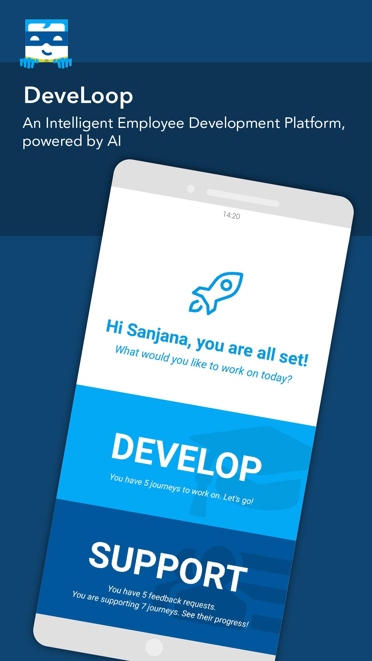 Custom employee development programs via mobile device