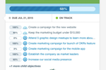 7Geese screenshot: The Objectives and Key Results methodology combines aspirational goals with metric-driven results