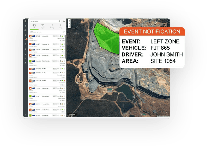 Linxio event notifications
