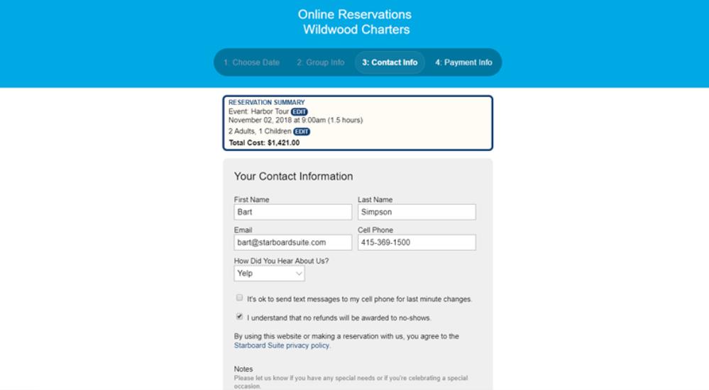 Starboard Suite customer contact details