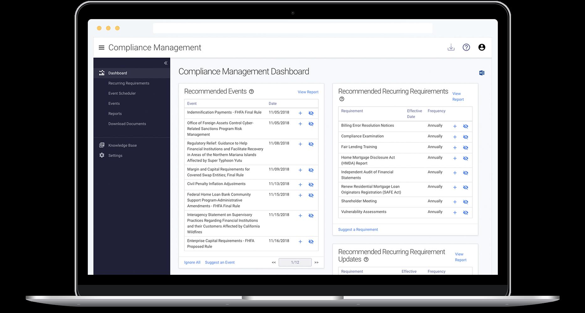 Tandem by CoNetrix compliance management