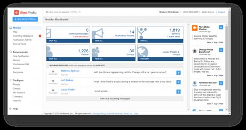 AlertMedia dashboard
