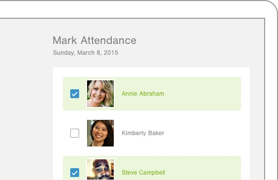 Realm screenshot: Realm users can track event attendance