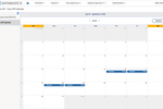 DATABASICS Time & Expense screenshot: Track employee time off with our calendar view.