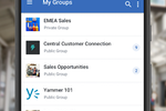 Yammer screenshot: Join and create groups