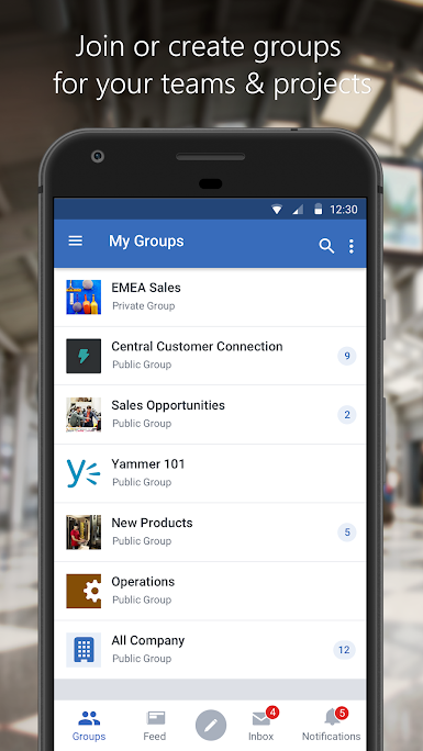 Join and create groups