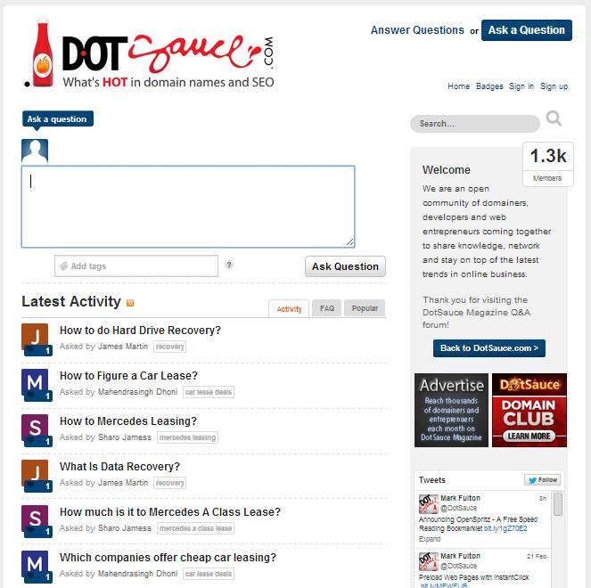 Client Example - forum.dotsauce.com