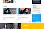 LumApps screenshot: Branded intranet homepage