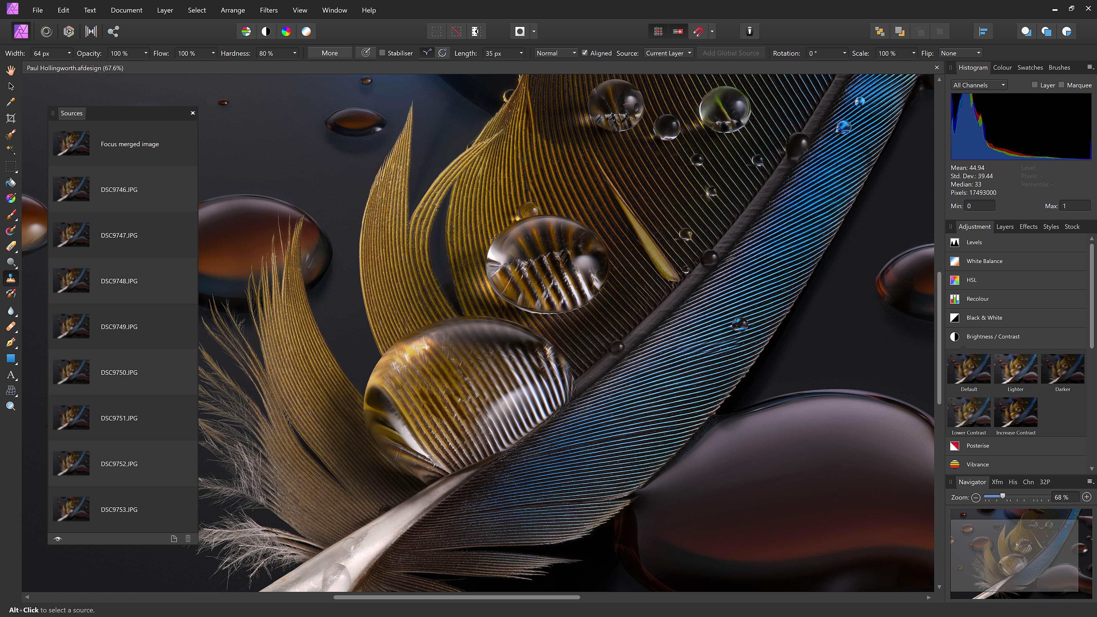Affinity Photo screenshot: Affinity Photo edit images