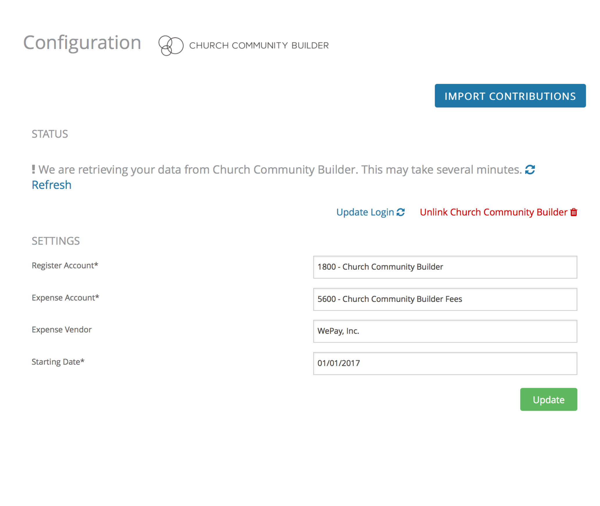Community Church Builder integration.