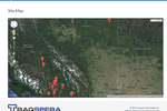Traqspera screenshot: Track sites using Google Maps