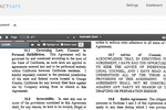 ContractSafe screenshot: The built-in automatic OCR (optical character recognition) allows users to search within scanned documents