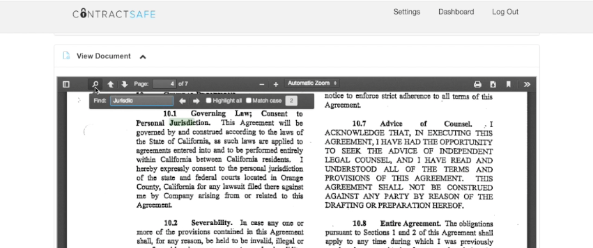 The built-in automatic OCR (optical character recognition) allows users to search within scanned documents