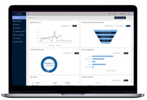Get a consolidated view of your indirect business including business plan, opportunities funnel, onboarding funnel, top partners and your own partner related tasks.