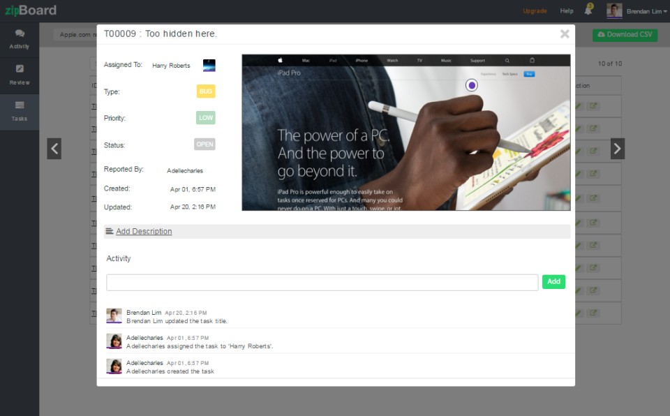 zipBoard task management