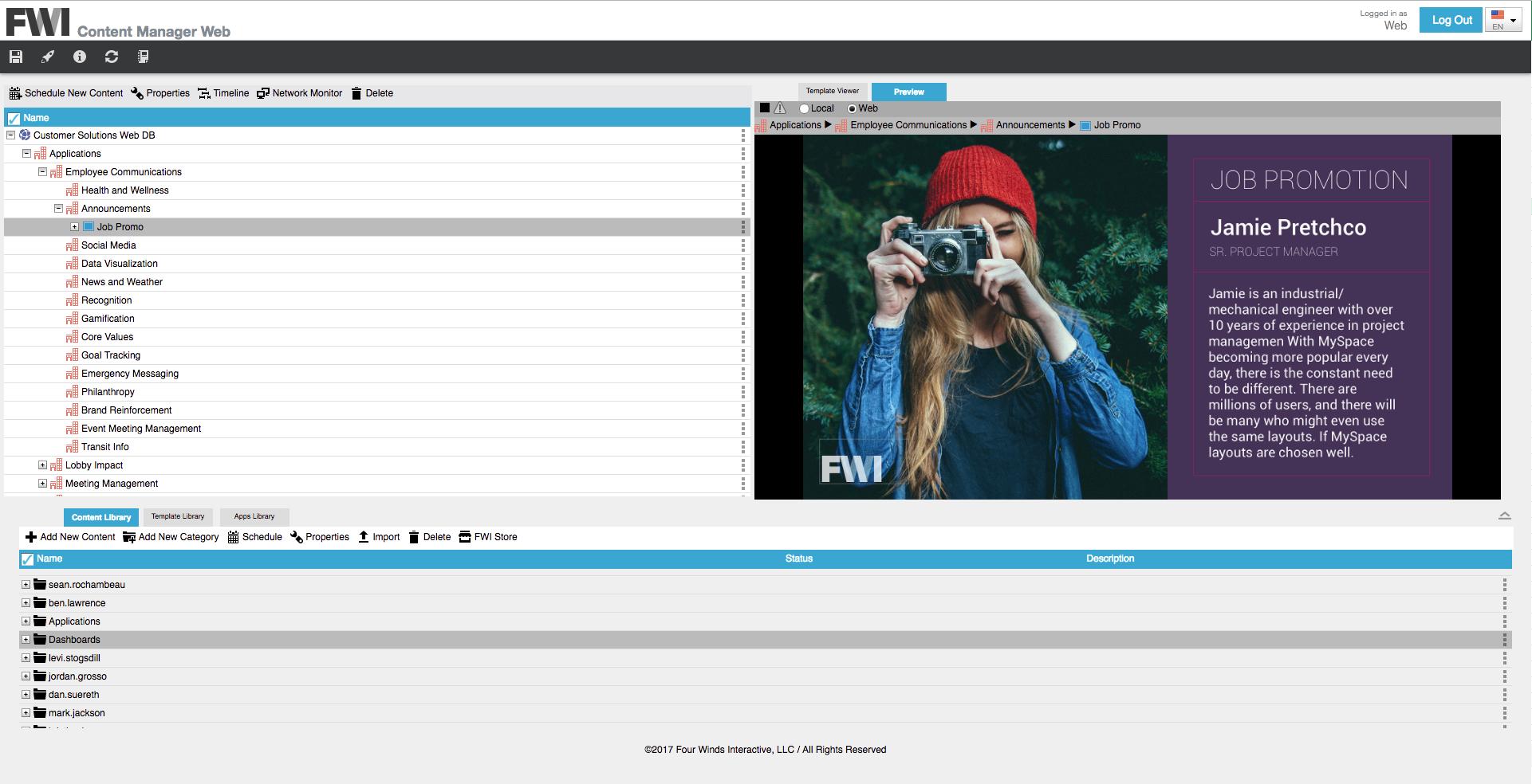 FWI content management