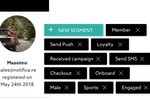 Notificare screenshot: Personalized content can be sent directly to the target segment audience