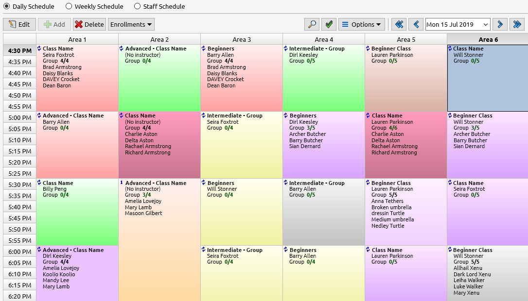 Visual Scheduler