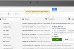 Captura de tela do Gmail: RSVP to event invites, track packages, review products, and more, without opening any emails