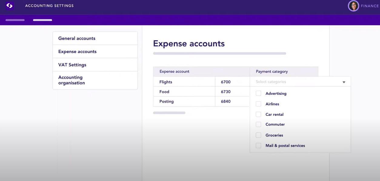 Spendesk expense accounts