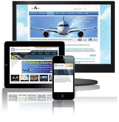 Exware Association Management enables users to create custom member websites that can be accessed across a range of devices