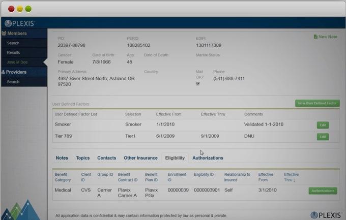 PLEXIS Payer Platforms - Member Details