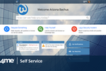 4me screenshot: The look and feel of 4me Self Service can easily be customized to match any organization's corporate identity.