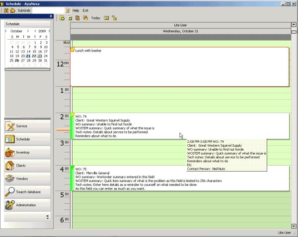 AyaNova Software - Service schedule %>