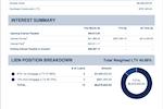 Mortgage Automator screenshot: Mortgage Automator investment portfolio statement