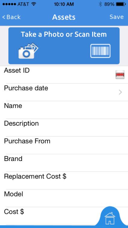 Asset Panda Software - Asset Panda mobile add asset