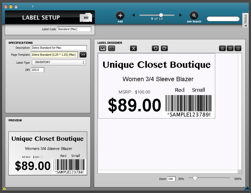 POSIM Software - Barcode