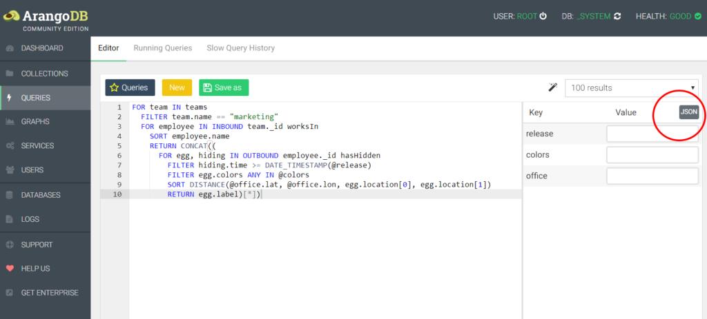 ArangoDB queries
