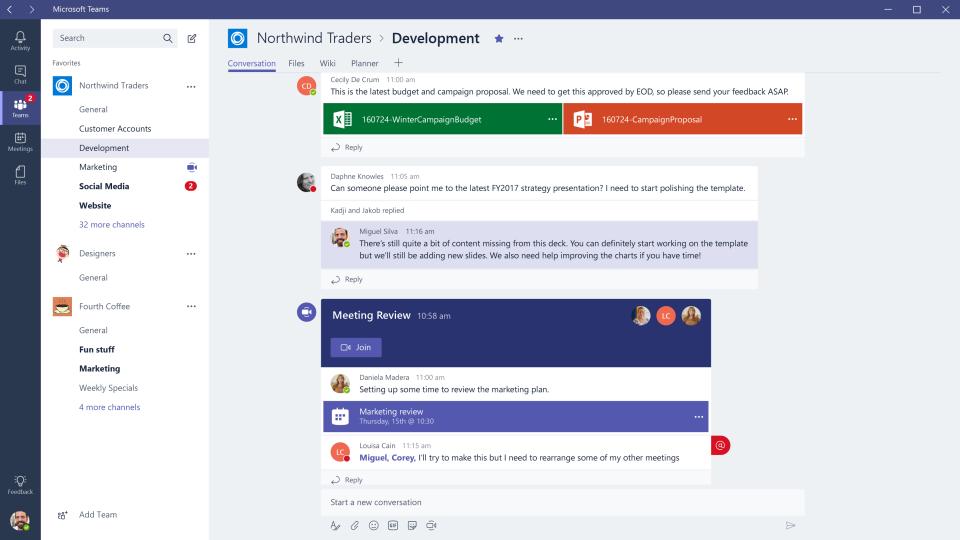 Microsoft Teams Software - Microsoft Teams channels