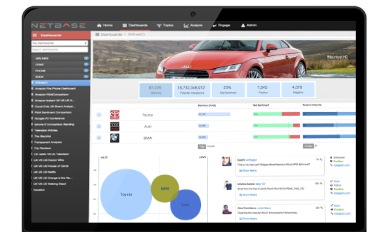 Measure passion for brands and see results displayed visually in the NetBase passion intensity dashboard