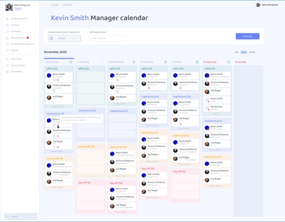 stayhome.ai Software - stayhome.ai - manager calendar