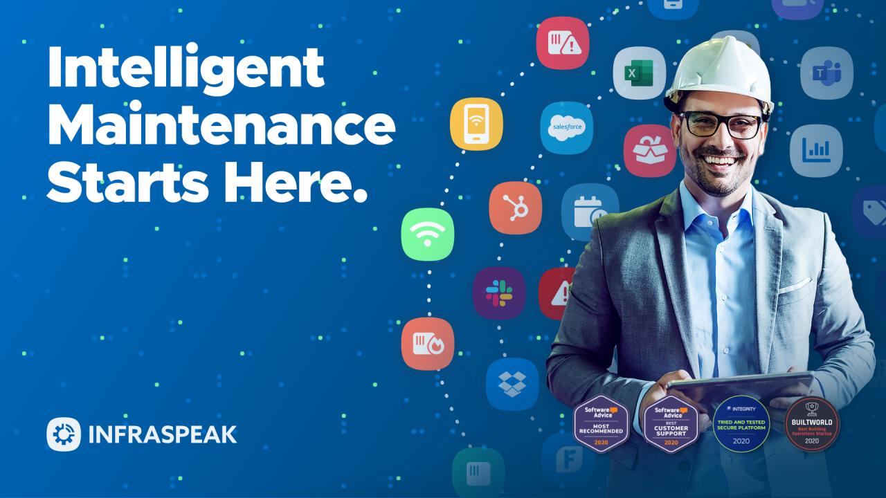 Infraspeak screenshot: Intelligent Maintenance Starts Here