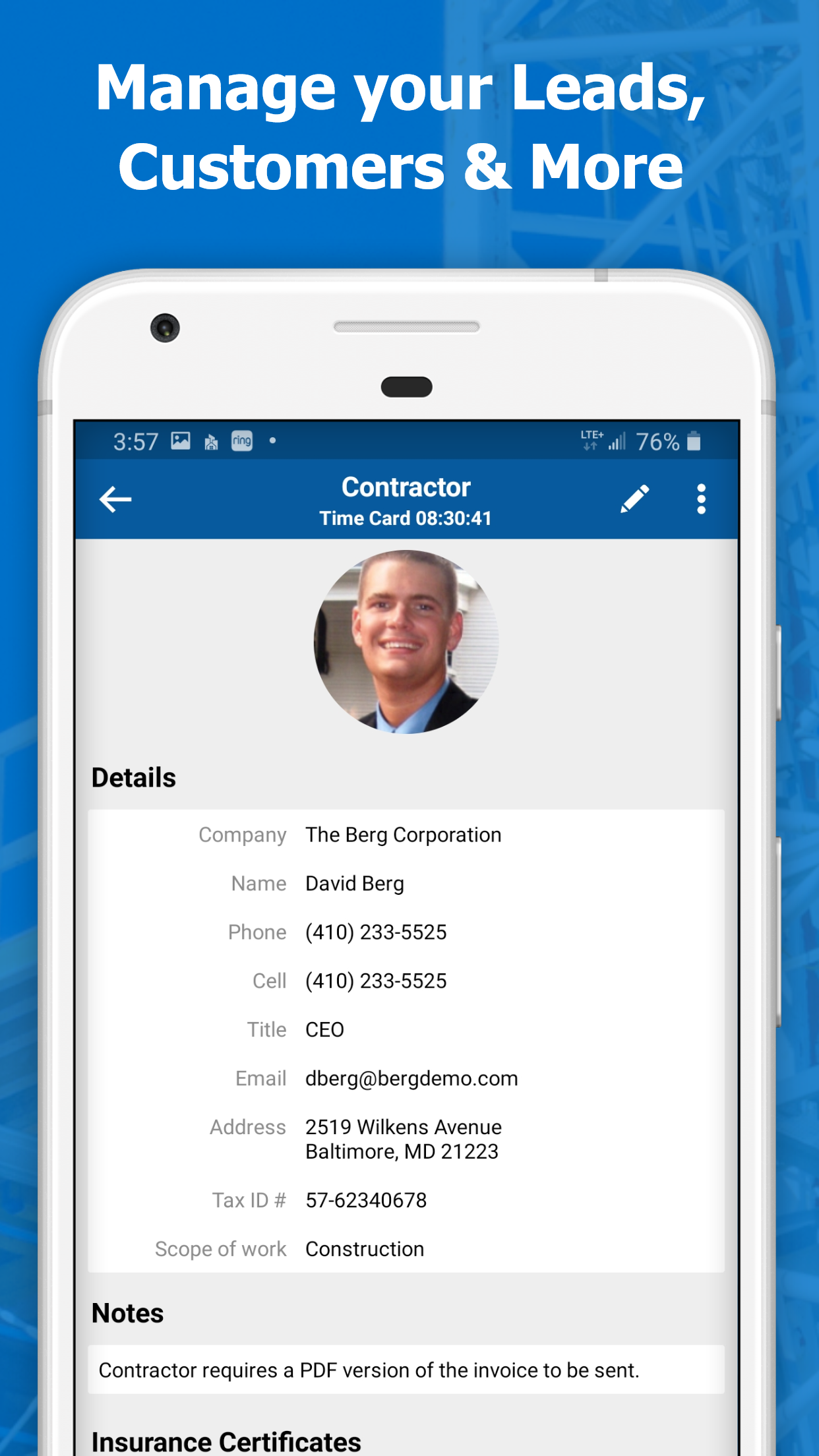 Manage your contacts all from one place.