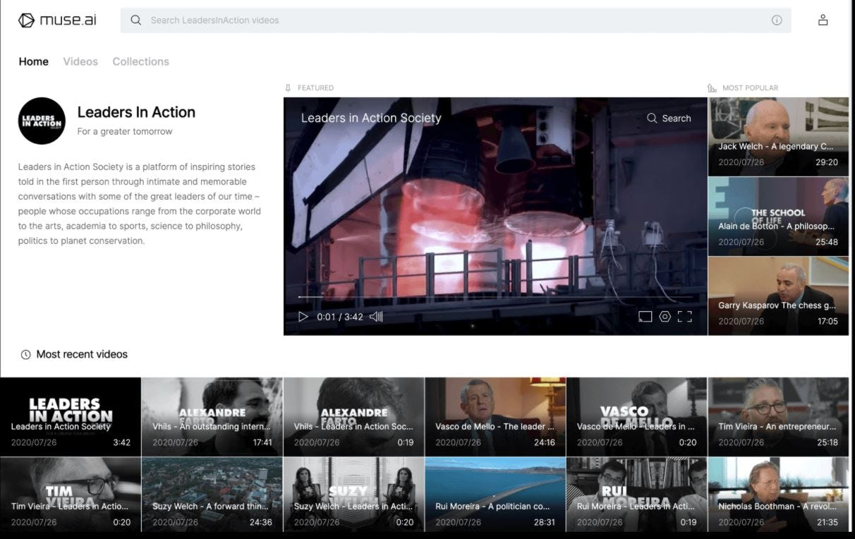 muse.ai Software - muse.ai video collections