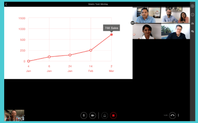 Share screens with colleagues during conference calls
