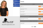 Capture d'écran pour ALICE Receptionist : The calendar tool allows both employees and visitors to view upcoming events